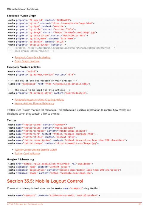 Free HTML5 Book