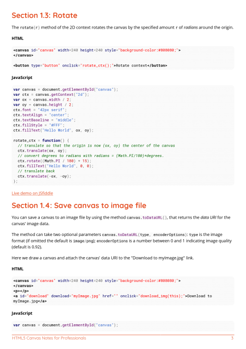 Free HTML5 Canvas Book