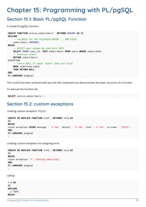Free PostgreSQL Database Book