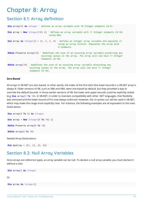 Free Visual Basic  NET Book